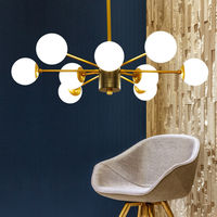 Iluminação lustre moderno led ouro lustres de ferro lustre teto lâmpadas interiores para sala estar d402|gold chandelier|lustres de teto|modern chandelier -
