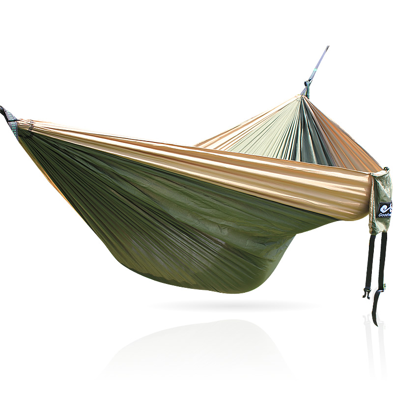 Portable Nylon Parachute Hammock Camping Survival Garden Swing  Hunting Leisure Travel Double Person Hamak