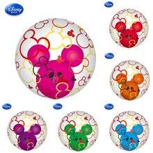 1 piezas Minnie Mouse tema Mickey oreja globos fiesta decoración globo rotación cumpleaños fiesta suministros para niños Baby Shower