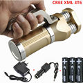 New LED Tactical Flashlight 6000LM 3xCREE XML T6 LED Rechargeable Defensive Flash Torch light lamp +3x18650 Battery+Charger