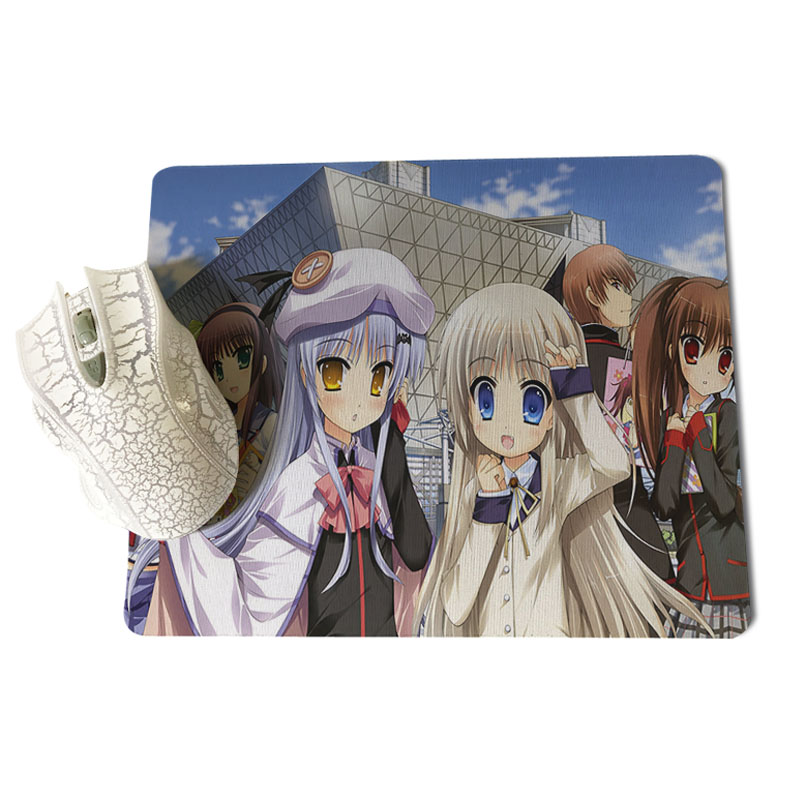 Babaite My Favorite Angel Schoolgirls Office Mice Gamer Soft Mouse Pad Size for 18x22cm 25x29cm Rubber Mousemats
