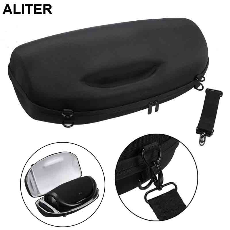 Portable Travel Carry Case Cover Bag With Shoulder Strap For Boombox Bluetooth Wireless Speaker And Charger