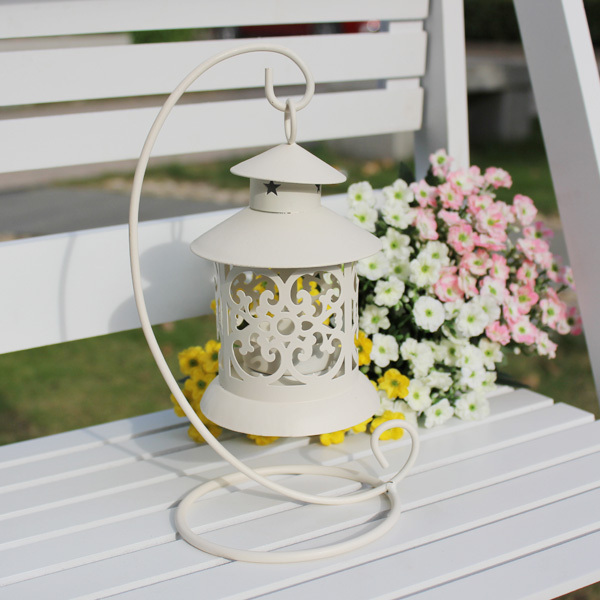 New Tabletop Candle Lanterns For Weddings Home Decoration With Hanging Iron Stand