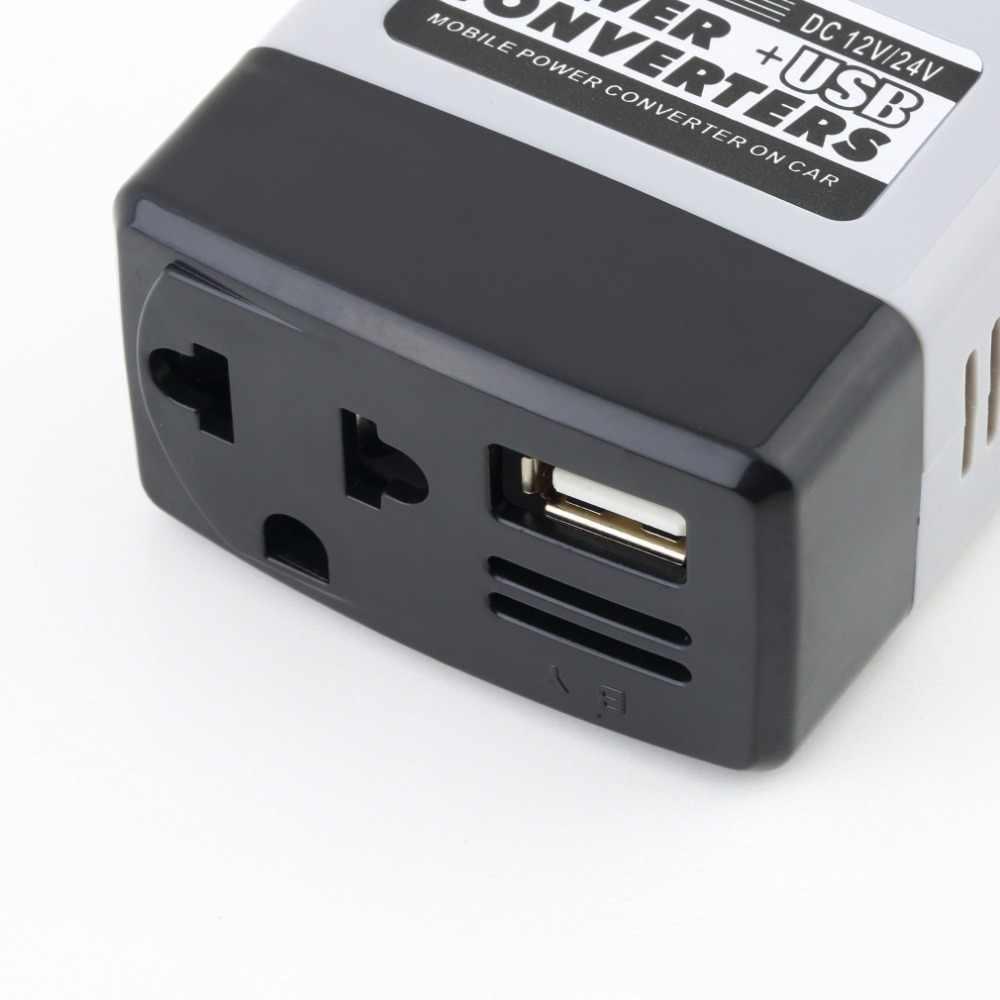 kebidumei Car Inverters Car Mobile Converter Inverter Adapter DC 12V/24V to AC 220V Charger USB Power Converter