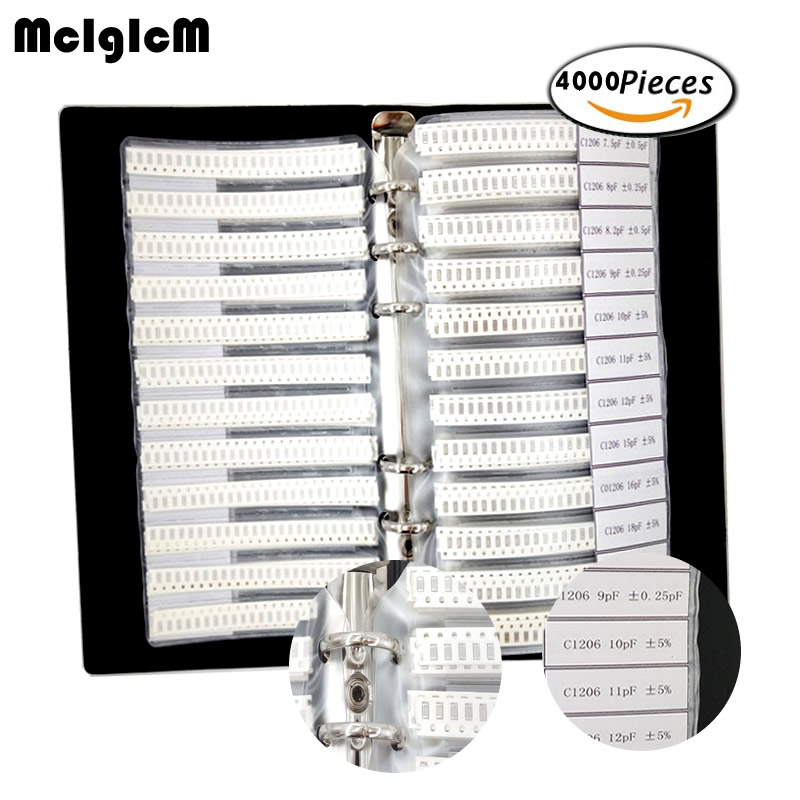 1206 SMD Capacitor Kit assorted kit 80values 50pcs 4000pcs Samples kit Sample book electronic diy kit