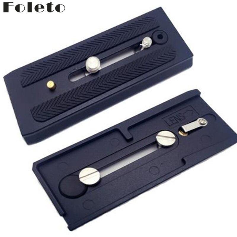Foleto Schnellwechselplatte Schiebe 501PL Plus Schnelle Verbinden Basis für Manfrotto 501 503 701HDV MH055M0-Q5 1/4 3/8 Schraube 11,8 cm