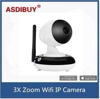 720 P rozdzielczość 3x zoom optyczny kamera ip wifi kryty inteligentny telefon zdalny dostęp do pielęgnacji niemowląt wifi cam