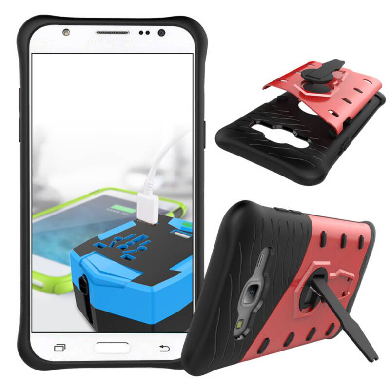 Hybrid Armor Case For Samaung Galaxy J5 J7 2015 Stand Hard Rugged Rubber Phone Shell Cover For Samsung J5 J500F/J7 J700F