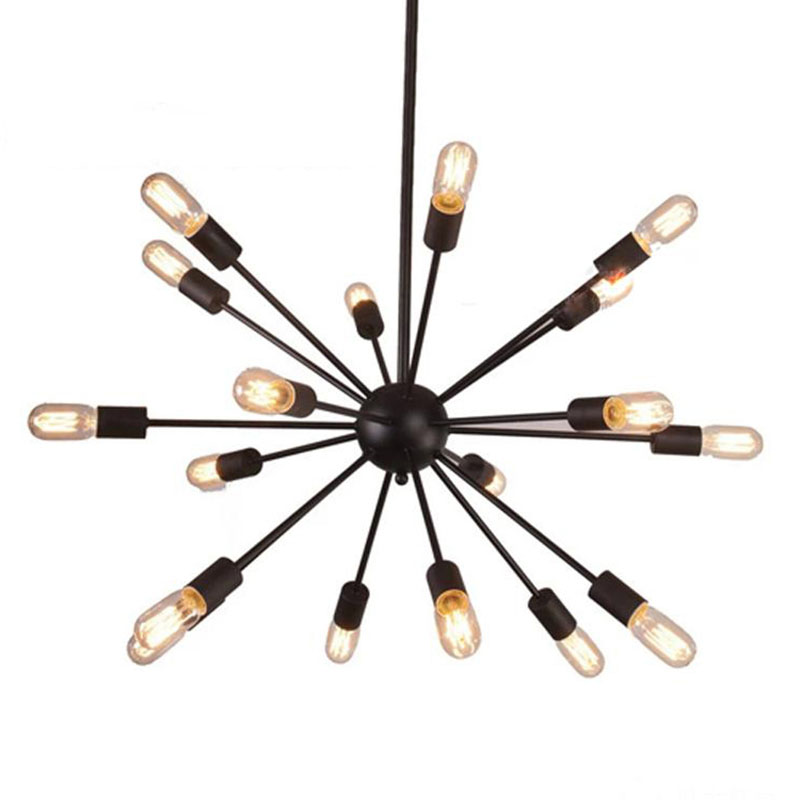 Mordern Nordic Retro pendant light Edison Bulb Lights fixtures lustre industriel iron Loft Antique DIY E27 Spider Ceiling Lamp red plastic coated handle 7 in 1 wire strippers pliers tool scale mm inch