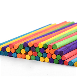 Colorful Round wooden stick ice cream bar Popsicle / chips educational toys for children/kids DIY handmade material