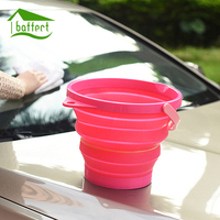 Outdoor Portable Folding Water Bucket Plastic Large Capacity Camping Hiking Bathroom Tools Multi Purpose Accessories Save