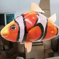 1 set Lucht Vliegende Vis Clown Haai Vormige Aluminium Ballon Configuratie Afstandsbediening kinderen Dag Gift Jongens Gunsten