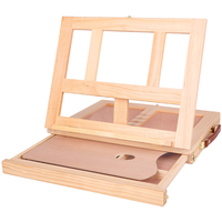 Art Students Desktop School Board Lightweight Painting Easel Wooden Sketching Practical With Drawer Portable Adjustable Folding