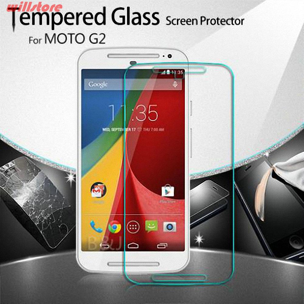 Tempered Kaca Screen Protector film Untuk Motorola Moto E E2 X X2 G - Aksesori dan suku cadang ponsel - Foto 2