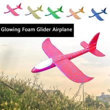 48cm Glowing Foam Glider RC Airplane Hand Throw Epp Outdoor Launch Flexible Avion Kids Gift Free Fly Aeromodelo