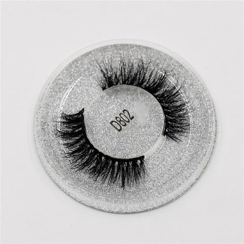 Mink Lashes 3D Lashes New Women Lady Natural Soft Black Fake Eye Lashes Handmade Thick Fake False Eyelashes Makeup Tools D802 Lahore