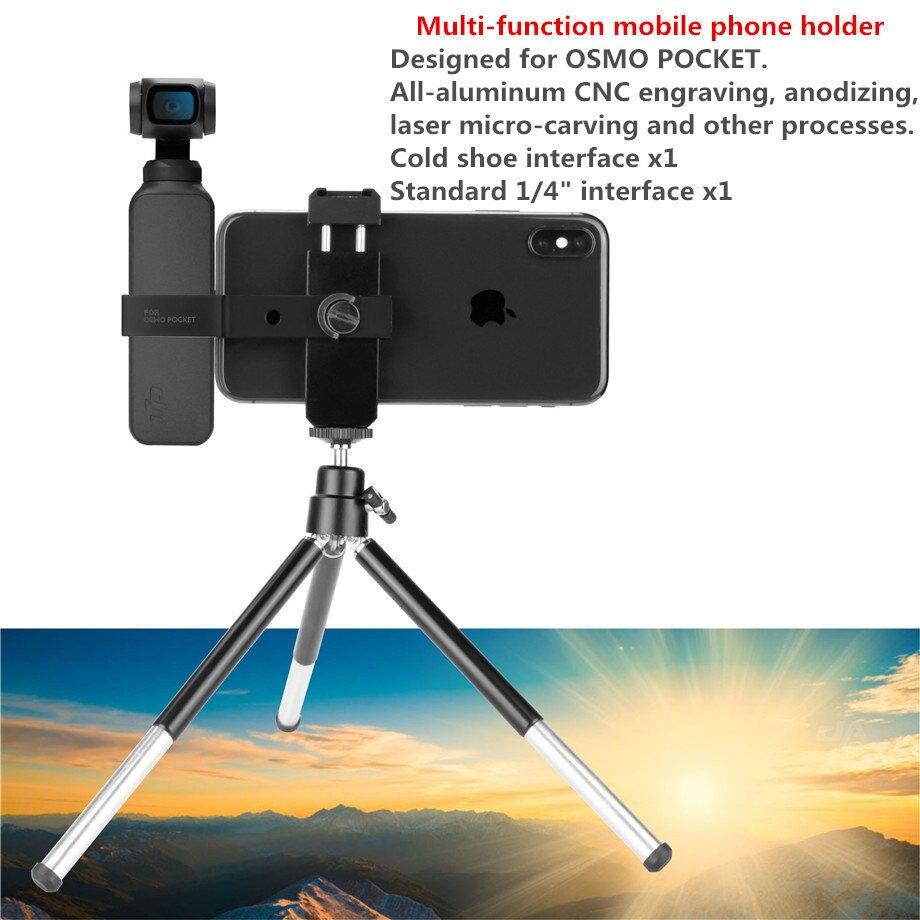 For DJI Osmo Pocket Accessory Set Mount Bracket Gimbal Extension Module Holder Parts Holder 4