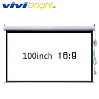 ViviBright 100 inch 16:9 Electric Projector Wall Mounted Screen. Apply to All Projector