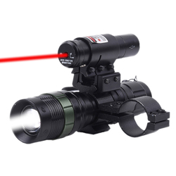 חדש ציד אבזרים טקטי Red Dot לייזר Zoomable CREE LED Zoomable לפיד Sight רובה הר טבעת צבאי