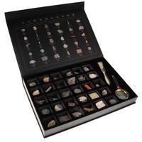 30 шт Природный окаменелости образца геологии коллекция эксперимент разведка игра наука учеба развивающие игрушки подарки детей