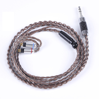 Newest 4 Core 7N Copper And Silver Plated Cable 2 5 3 5mm Balanced Cable Earphone