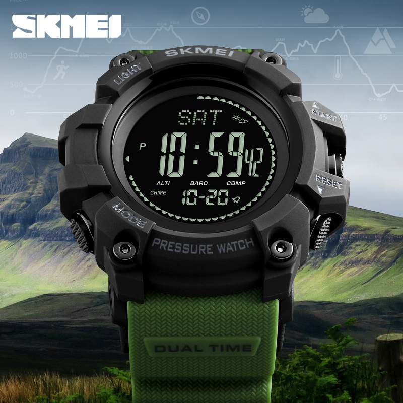 SKMEI Men Outdoor Sport Watches Compass Countdown Pressure Watch Altitude Digital Wristwatches Waterproof Relogio Masculino1358 купить в Москве 2019