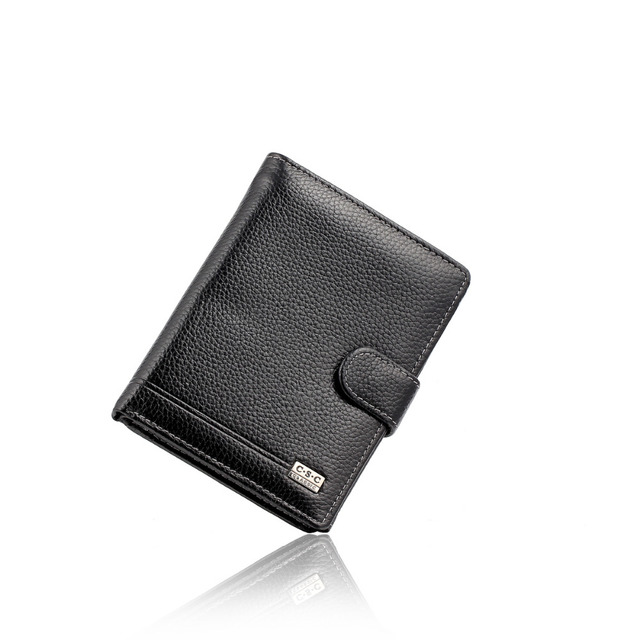 Gentle Balck Mens Wallets 2016 Fashion Designers 100% Genuine Leather Money Pocket Large Capacity Men Purses Wallet Passport Bag