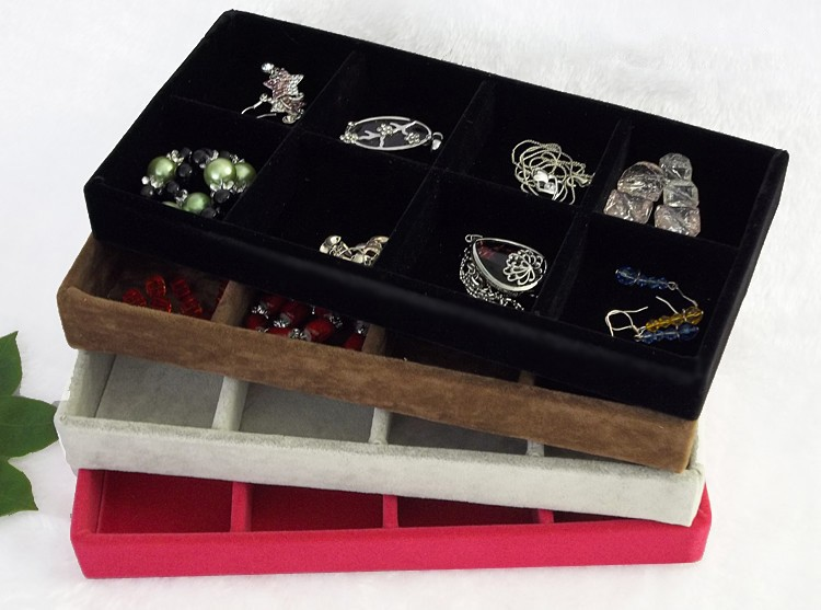 Jewelry display tray rings organizer showing case earring for Big box jewelry stores