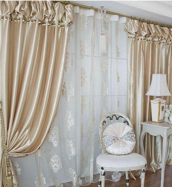 De calidad superior Corea linternas cabeza cortina champán color ...