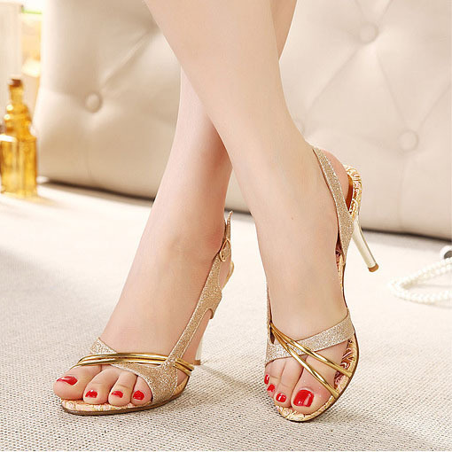 Women Sandals 2015 Brand New Women High Heel Sandals Women's Fish ...