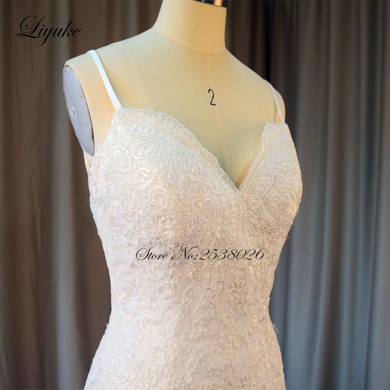 Liyuke Elegantní miláčik výstřih Kvalitní mořská panna - Svatební šaty - Fotografie 3