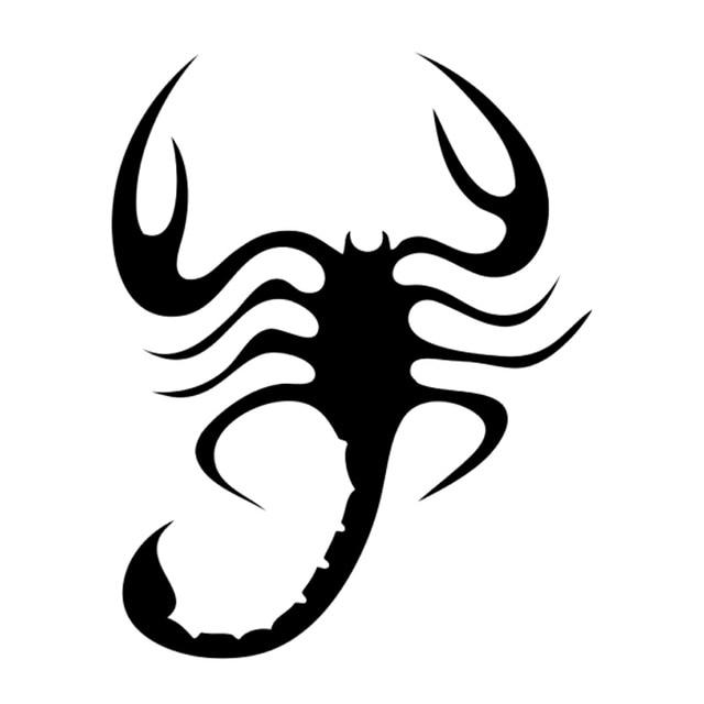 11 Cm 13 9 Cm Tatouage Tribal Scorpion Moto Decor Autocollant De