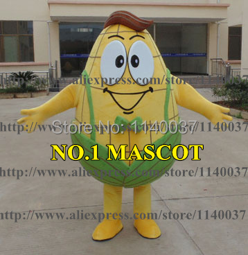 mascot Mr Corn Mascot Costume Gentle Man Plant Mascotte Mascota Outfit font b Suit b font