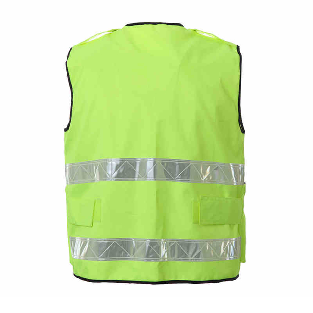 Reflective Vest Waterproof High Visibility Safety Clothing Multi pockets Fluorescent Yellow Clothes Waistcoat Outdoor Workwear 1