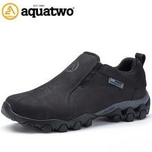 2016 New Men Outdoor Trekking Shoes Full Grain Leather Autumn Winter Breathable Slip On Shoes US5.5-10.5# Men Shoes Hot Sale