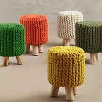 Handmade Creative Modern Children Wooden Stool Footstool Chair Living Room Decoration For Kids 1