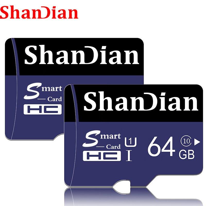 SHANDIAN Memory Card 64GB 128GB Carte Micro Sd Card  C6 Micro Sd Cards 8GB 16GB 32GB Mini TF Cards Cartao De Memoria High Speed