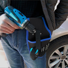 Hot Portable Tools Waist Bag Cordless Drills Holder Storage Pouch for 12V Electric Drill Tool FQ-ing