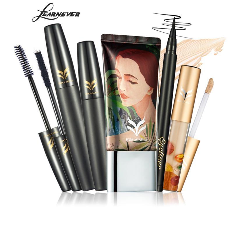 4pcs/set Mascara Foundation Liquid Concealer Eyeliner Pen Makeup Set Beauty Gift For Women Cosmetic Make Up MCP7479
