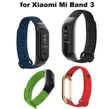 For Xiaomi Mi Band 3 Strap Mi Band 3 Bracelet Pulseira Correa For Xiaomi NFC Miband 3 Smart Wristband Strap Accessories недорого