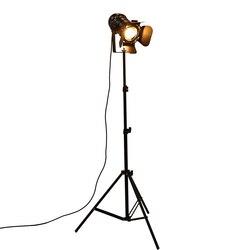 شريط الصناعية الإبداعية استوديو الرجعية ترايبود الأسود مصباح أرضي أضواء غرفة ضوء موقف إضاءة السقف