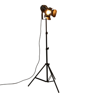 Industrial Bar Creative Studio Retro Tripod Black Floor Lamp Lights Room Light Stand Ceiling lighting(China)