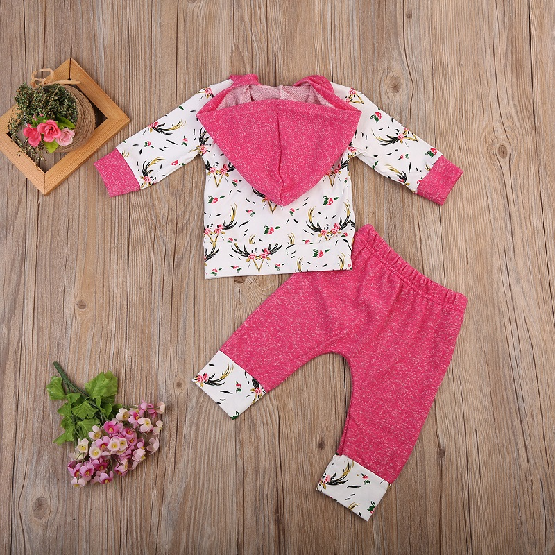 9011f22eb Buy 2pcs Trendy Infant Newborn Baby Girls Cute Clothes Hooded Coat ...