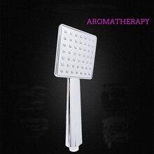 Купить с кэшбэком Zhang Ji Aromatherapy Square Shower Head Silicon holes Anti-blocking Romantic fragrance bathing ABS plastic Eletroplated mirror