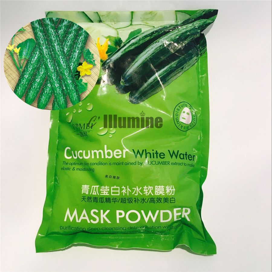 1000g Cucumber Facial Whitening Moisturizing Treatment Mask Powder SPA Skin Care Ageless Products 1 set professional face care diy homemade fruit vegetable crystal collagen powder facial mask maker machine skin whitening