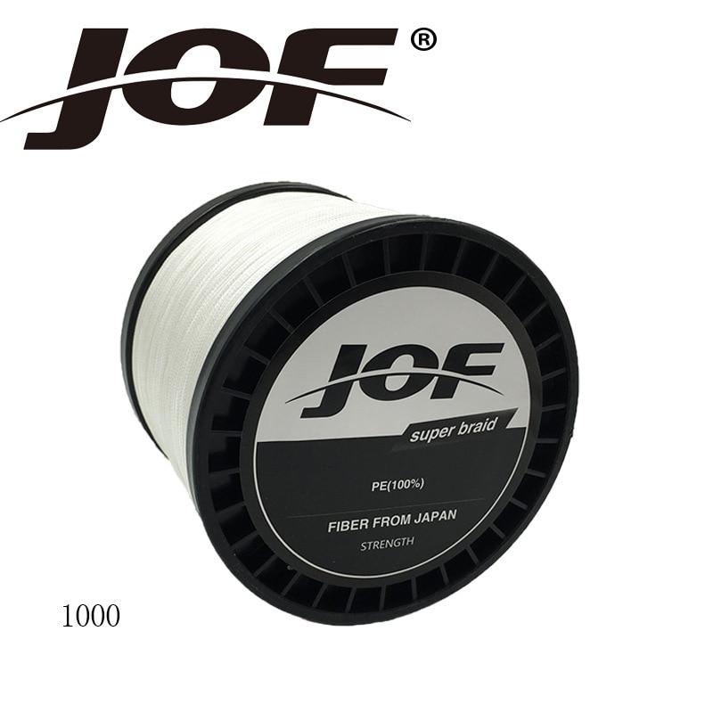 JOF marque Super forte 1000 M 8 brins tisse PE tressé ligne de pêche corde Multifilament 15-200LB Monofilament eau salée