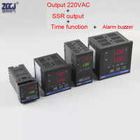 220VAC and SSR output Digital thermostat Temperature controller with buzzer alarm output and time function 0-9999 seconds