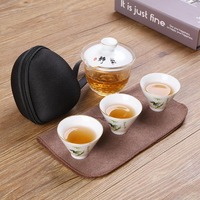 New Arrival Ceramic Teacups Chinese Tea Cup Porcelain Cup Drinkware China Style Hand Painting Celadon Porcelain Teacup Set Craft