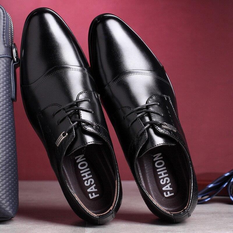 D'affaires Parti Pour Bout Chaussures De Mariage En Homme Bureau Noir Classique Hommes Robe Oxford 2019 Élégant Mens Cuir Pointu 7qO0wZ7CH