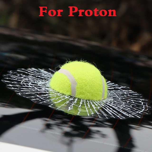New Funny 3D Tennis Ball Hits Decals Car Body Stickers Styling for Proton Gen-2 Inspira Perdana Persona Preve Saga Satria Waja 4pcs new for ball uff bes m18mg noc80b s04g